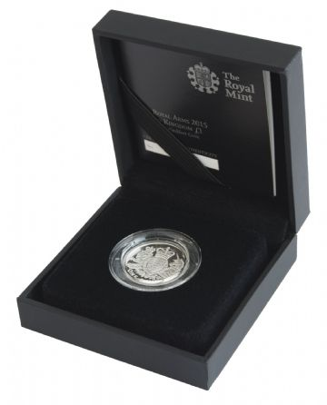 2015 Silver Proof One Pound Coin - Royal Arms